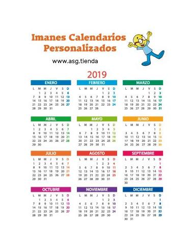 Imán Calendario