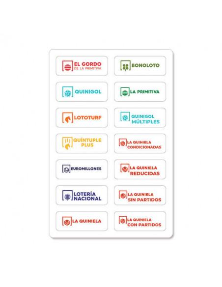 Pegatinas de juegos - nuevos logotipos de los juegos de SELAE