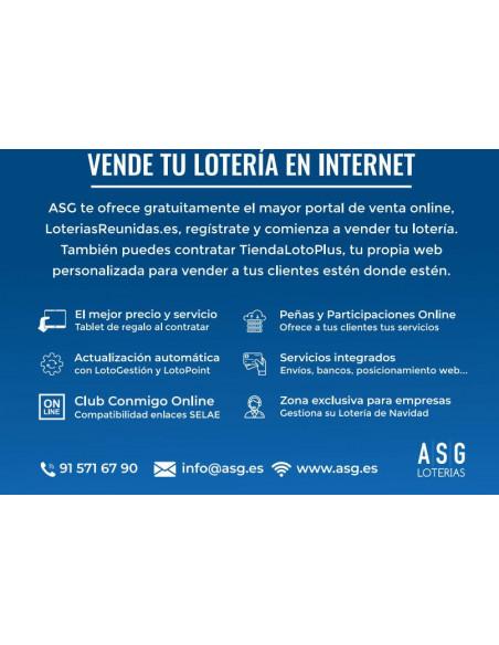 Tu propia Plataforma de venta de Lotería Online - TiendaLotoplus de ASG