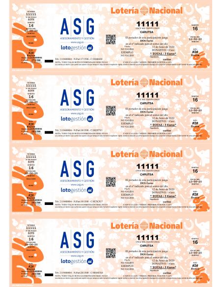 Papel de Seguridad ASG AMULETOS naranja conejo relleno