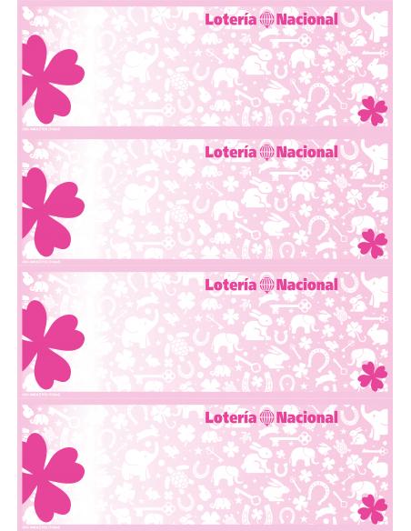 Papel de Seguridad ASG AMULETOS Tréboles rosa