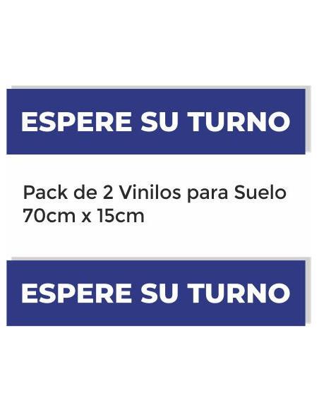 """Pack 2x vinilo suelo """"Espere su Turno"""""""