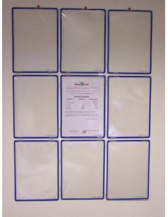 Cartelera modular con 9 fundas A4