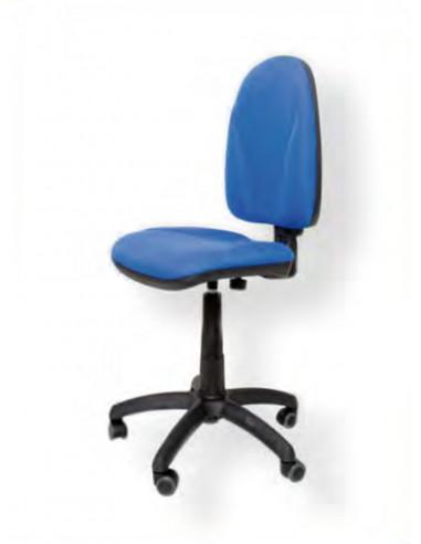 Silla oficina tapizado azul sin ruedas