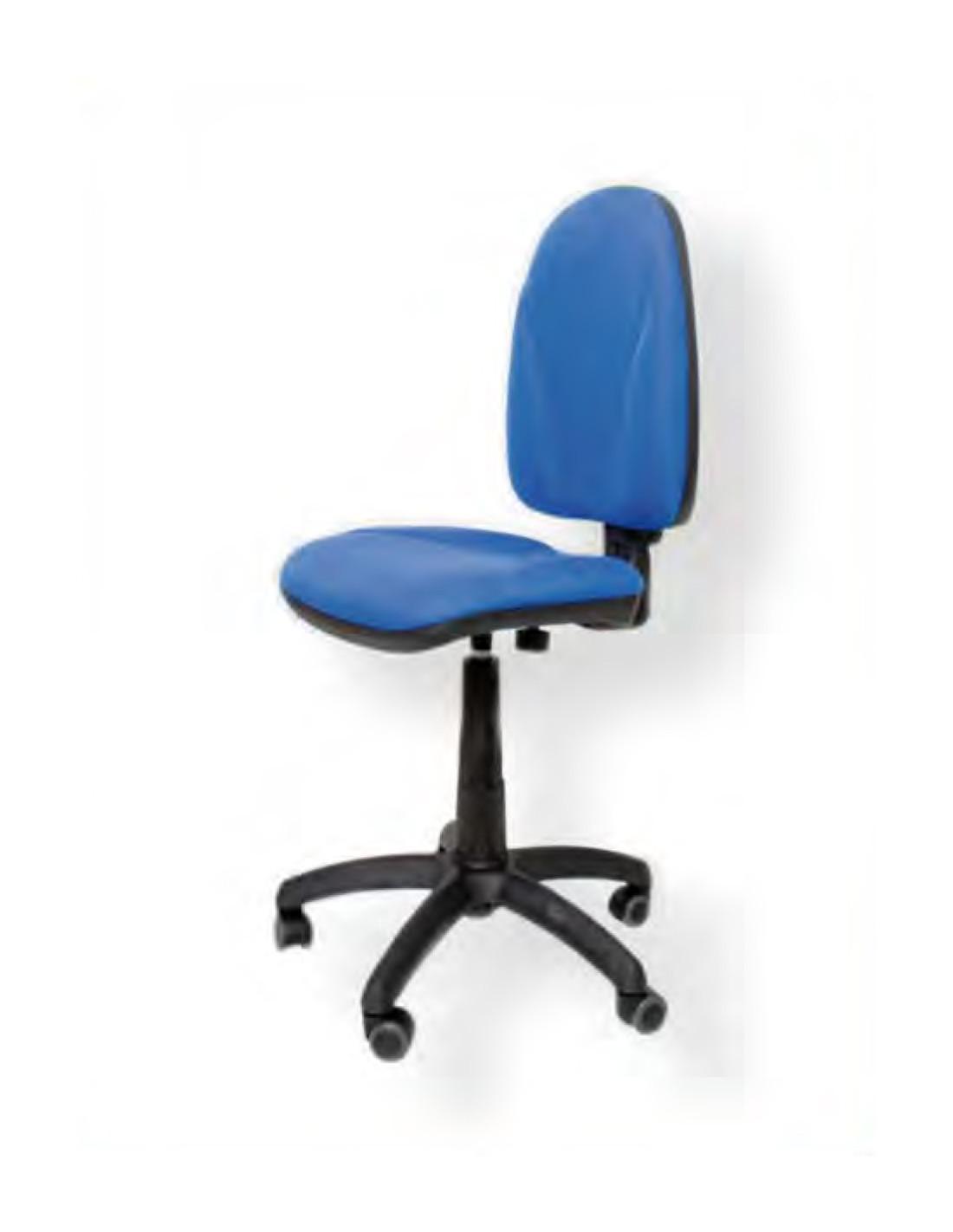 Silla oficina tapizado azul sin ruedas for Rueditas para sillas oficina