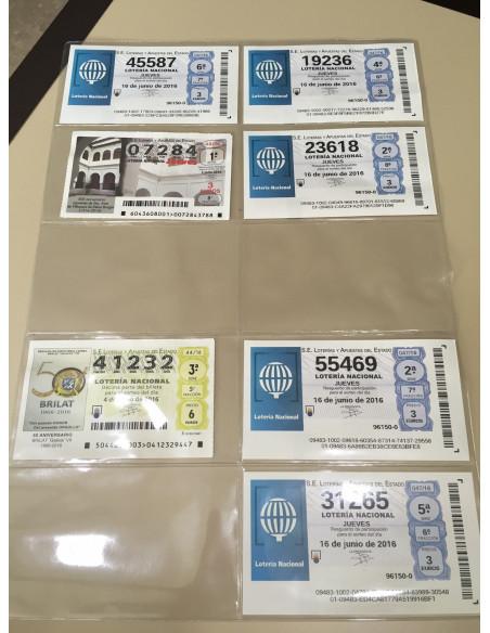 Fundas para 10 décimos y/o tickets transparentes